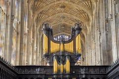 College Chapel, Cambridge de rey Imagen de archivo libre de regalías