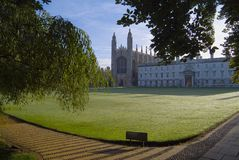 College Chapel, Cambridge del re fotografie stock libere da diritti