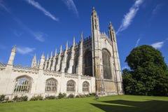College Chapel de rey en Cambridge Imágenes de archivo libres de regalías