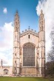 College Chapel (frente) de rey Fotografía de archivo libre de regalías
