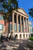 College of Charleston in Charleston, South Carolina, SC, USA. stock photography