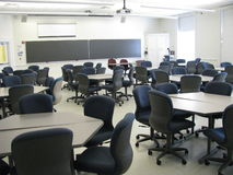 College classroom royalty free stock photo