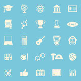 College color icons on blue background Stock Images