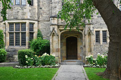 College courtyard Royalty Free Stock Images