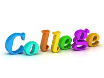 College 3d word colour bright letter Stock Photo
