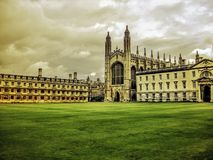 College de rey, Universidad de Cambridge Foto de archivo
