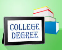 College Degree Indicates School Associates And Universities Royalty Free Stock Photography