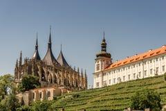 College des Heiligen Barbara Cathedral und des Jesuits Lizenzfreie Stockfotos