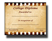 College diploma Stock Image