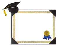 College Diploma with cap and tassel Royalty Free Stock Photos