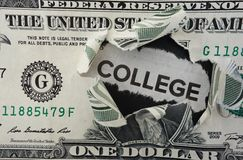 College dollar Royalty Free Stock Photos