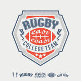 College east coast rugby team emblem and icons Royalty Free Stock Images