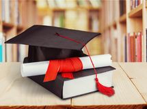 College. Education academic apprentice arts concept of education degree Royalty Free Stock Photos