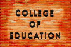 College of Education sign Stock Photo
