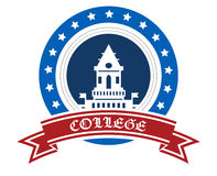 College emblem Royalty Free Stock Image
