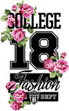 College fashion whit roses Royalty Free Stock Photo