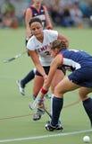 College Field Hockey - ladies stock image