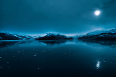 College Fjord. Blue glaciers in the College Fjord passageway, Alaska Royalty Free Stock Photo