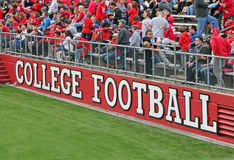 College Football. Sign at High Point Solutions Stadium at Rutgers University, in Piscataway,NJ Stock Images