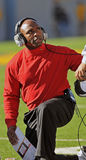 College football - coach with injured player Royalty Free Stock Photography