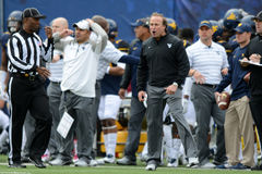 2014 College Football - coach on sideline Royalty Free Stock Photos