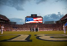 College Football Color Guard royalty free stock photos