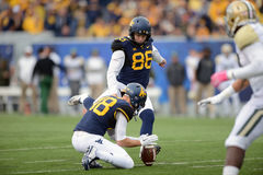 2014 College - Football - Kicker Stockbild