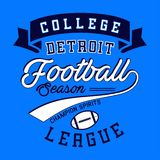College football league. Design letters and numbers college football league for t-shirts Royalty Free Stock Photo
