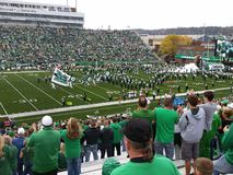 College Football: Marshall University vs FAU. Marshall University versus Florida Atlantic University in Huntington West Virginia in November 2014 Royalty Free Stock Images