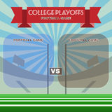 College Football Playoffs Vector Illustration Royalty Free Stock Image