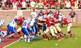 College Football. Tallahassee, FL - October 27, 2012:  College football game featuring the Florida State University Seminoles offense vs Duke University Blue Stock Image