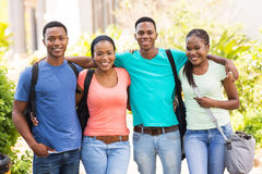 College friends on campus Royalty Free Stock Photography