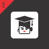 College girl avatar portrait Royalty Free Stock Image