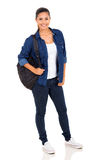 College girl backpack Stock Image