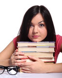 College girl with books Stock Image
