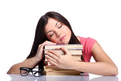College girl with books Royalty Free Stock Photos