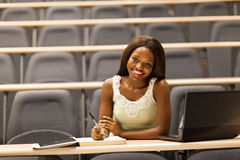 College girl classroom Royalty Free Stock Image