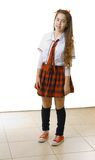 College girl costume for Halloween / Purim Royalty Free Stock Photos