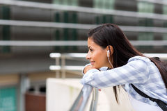College girl daydreaming Royalty Free Stock Photos