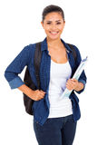 College girl holding books Royalty Free Stock Image