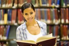 College girl library Stock Photos