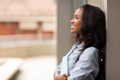 College girl looking up Royalty Free Stock Photos