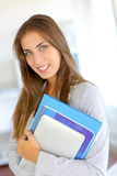 College girl portrait royalty free stock image