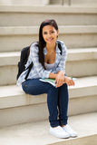 College girl stairs Stock Image