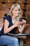 College Girl Texting Royalty Free Stock Photo