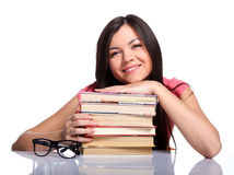 Free College Girl With Books Stock Photography - 25108992