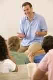 college giving lecture teacher Στοκ Φωτογραφία