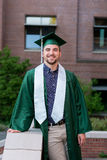 College Grad on Campus in Oregon Stock Photos