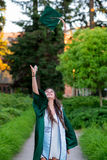 College Grad on Campus in Oregon Royalty Free Stock Photo