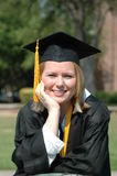 College Graduate. Young woman graduate form university with Honor's medal Stock Photos